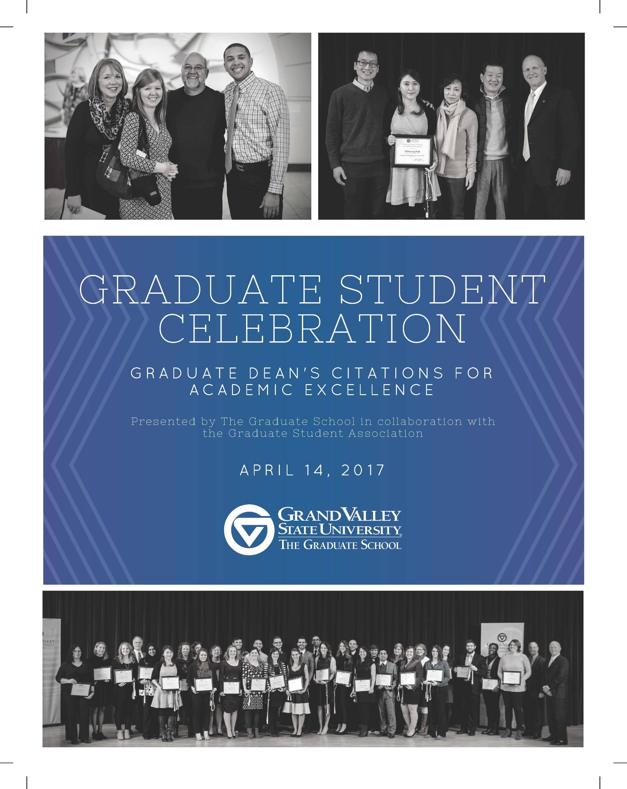 Graduate Dean's Citation Award Program Winter 2017